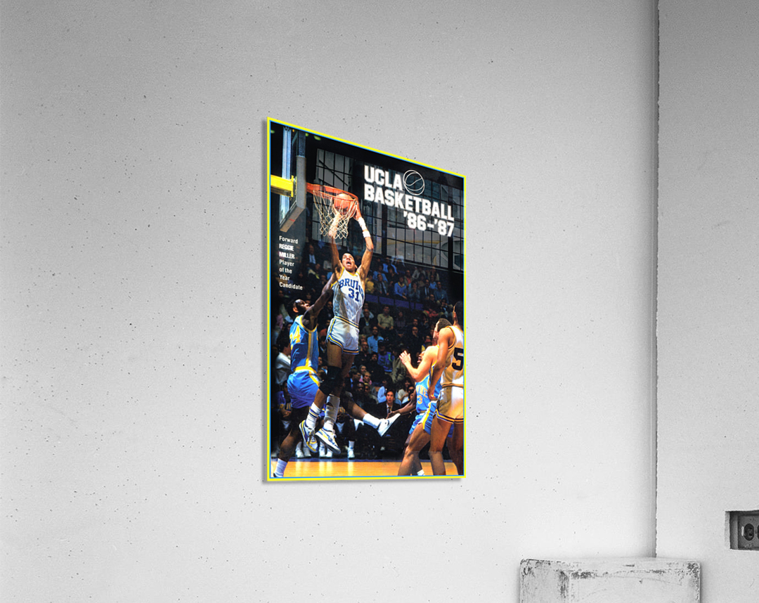 1986 UCLA Bruins Basketball Reggie Miller Poster  Acrylic Print