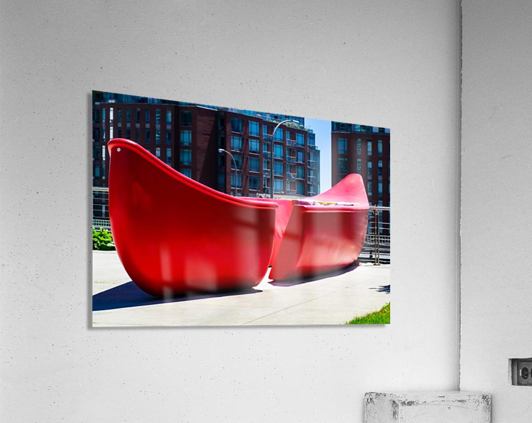 Red Canoe  Acrylic Print