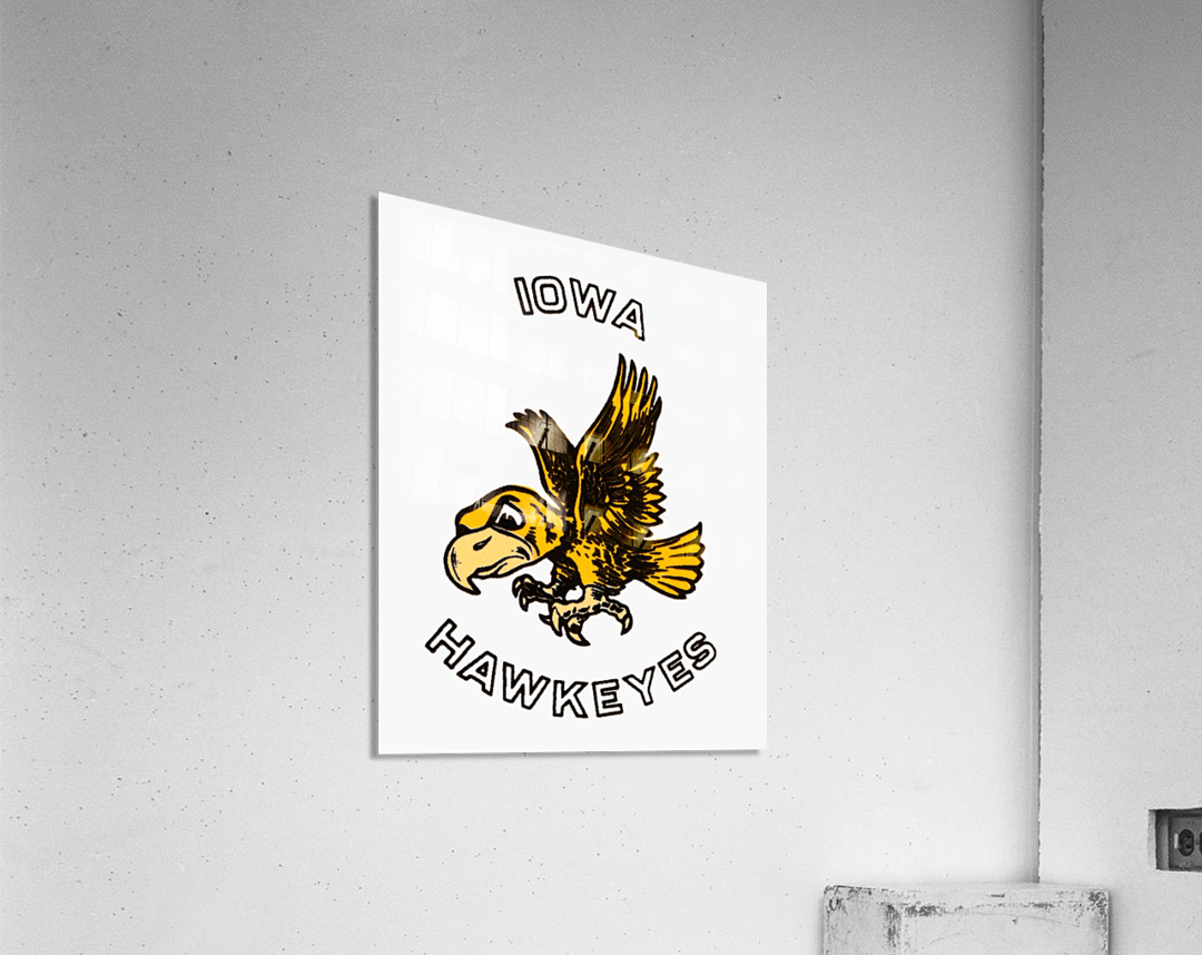Vintage Iowa Hawkeyes Art  Acrylic Print