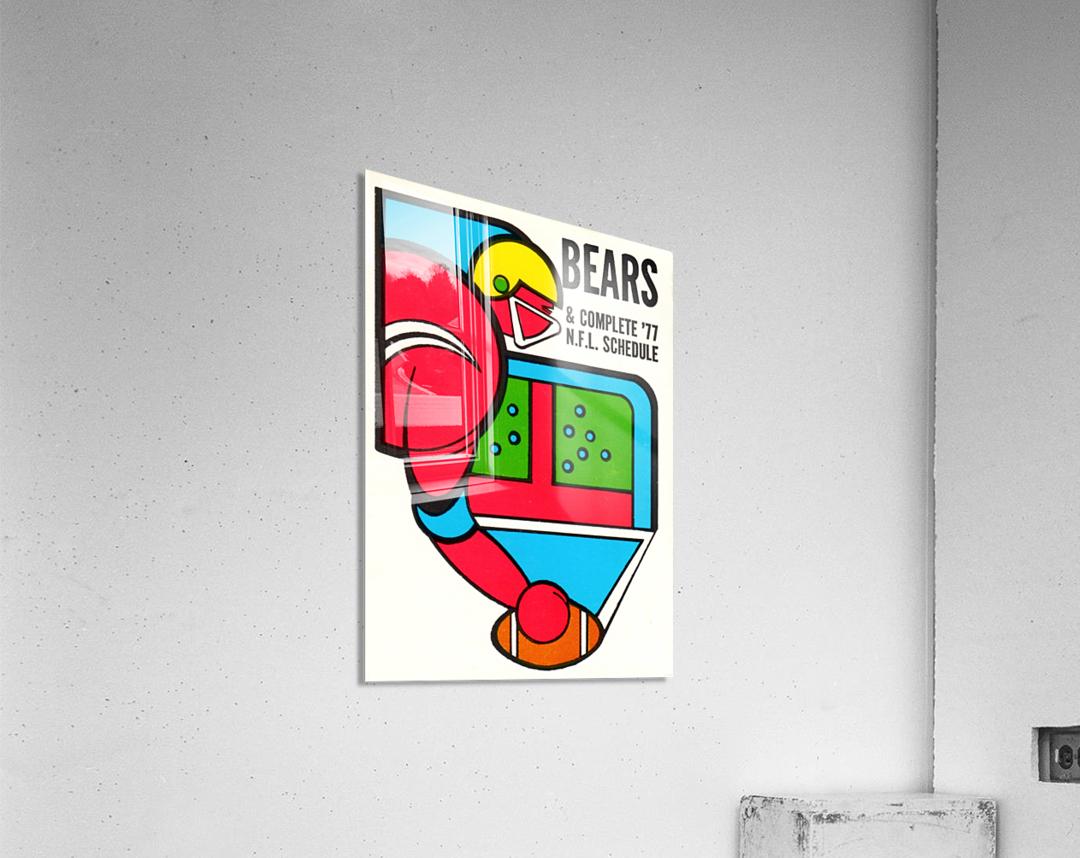 1977 Chicago Bears Schedule  Acrylic Print
