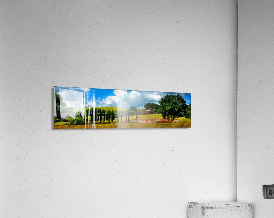 Cypress View Umbria  Acrylic Print