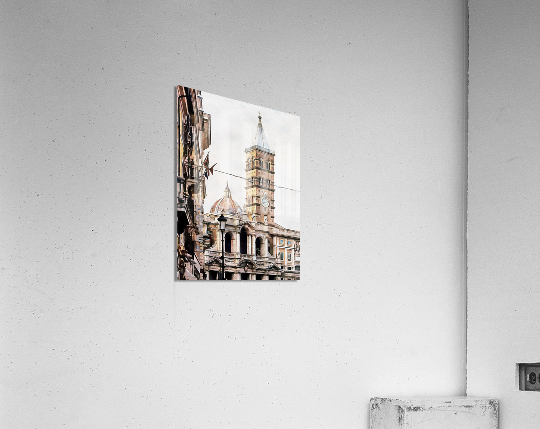 Street View Toward Basilica di Santa Maria Maggiore Rome  Acrylic Print