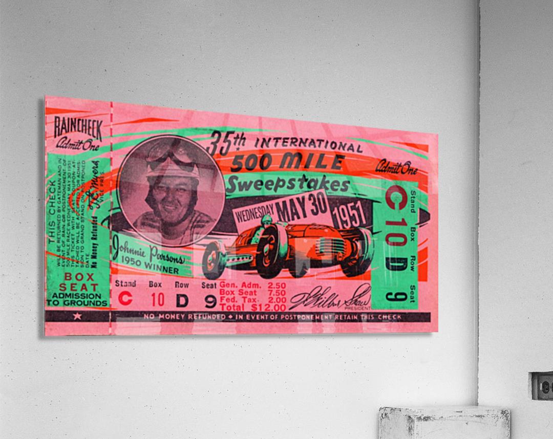 1951 indianapolis 500 mile sweepstakes auto race  Acrylic Print