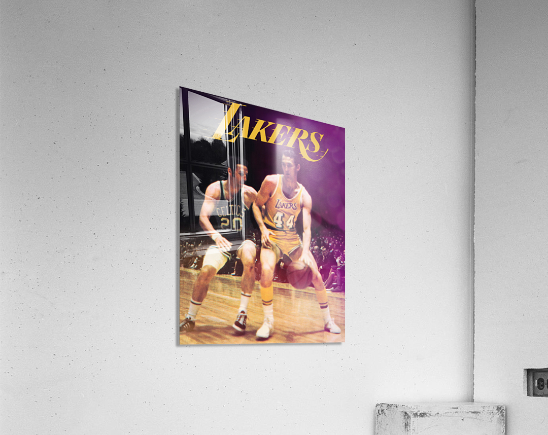 1969 Los Angeles Lakers Jerry West Art  Acrylic Print