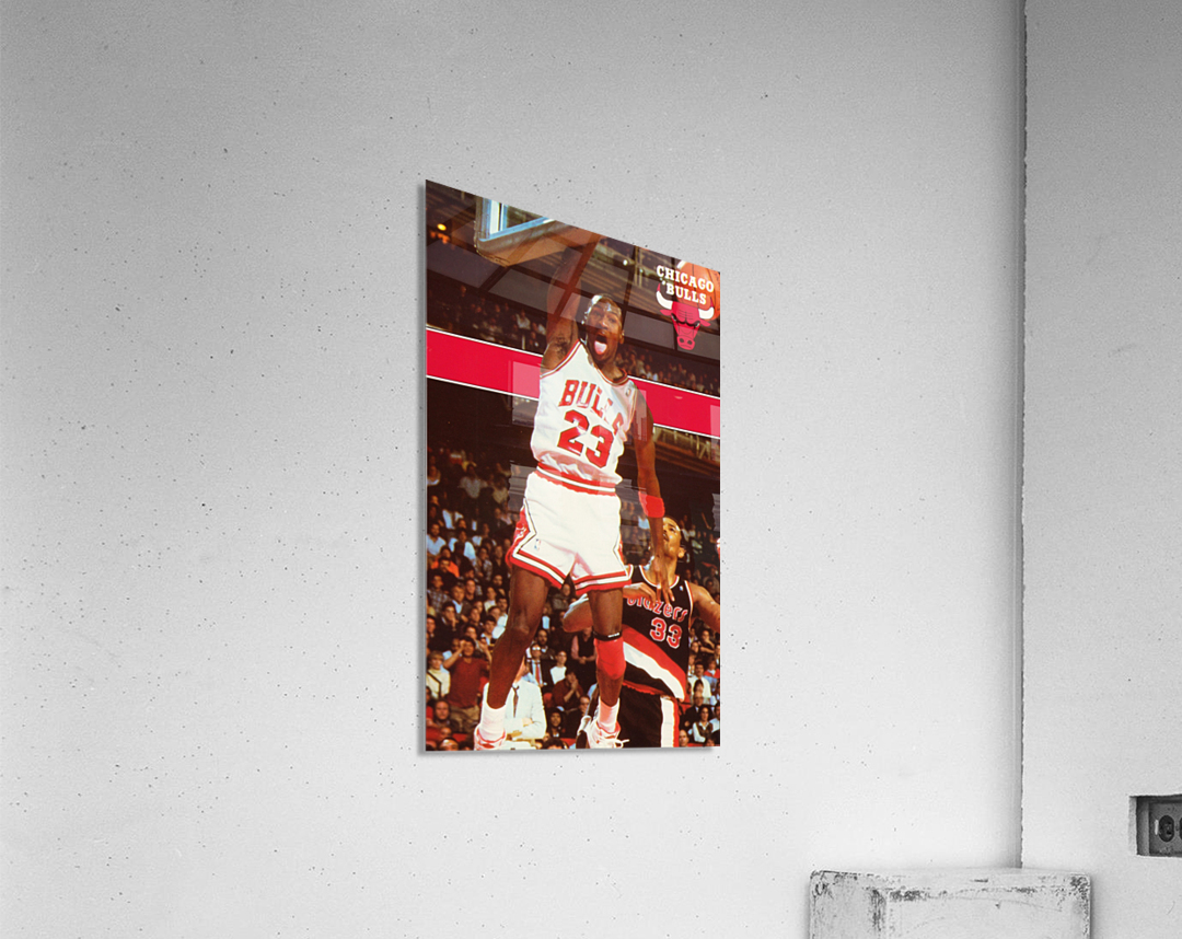 1987 michael jordan chicago stadium poster  Acrylic Print