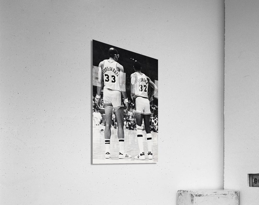1984 Magic Johnson & Kareem Poster  Acrylic Print