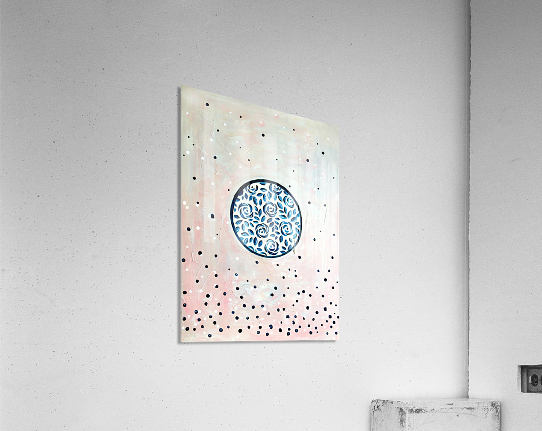 Art deco flower bloom  Acrylic Print