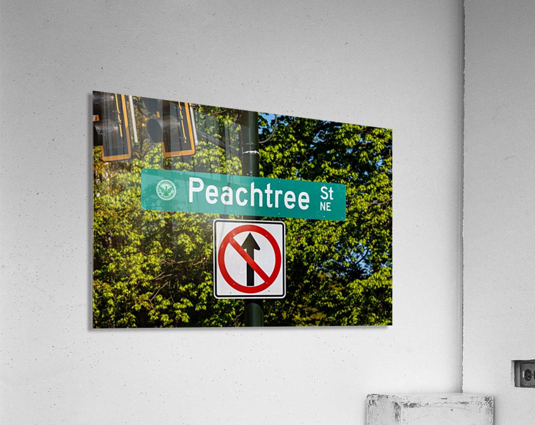 Peachtree St Road Sign   Atlanta GA 7162  Acrylic Print