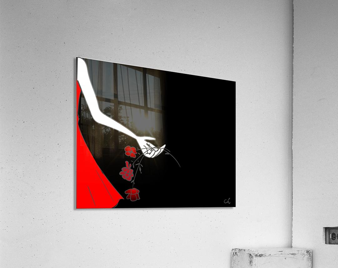 Dropping roses  Acrylic Print