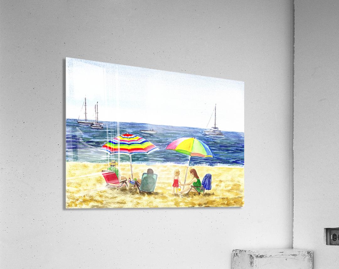 Two Umbrellas On The Beach  Acrylic Print