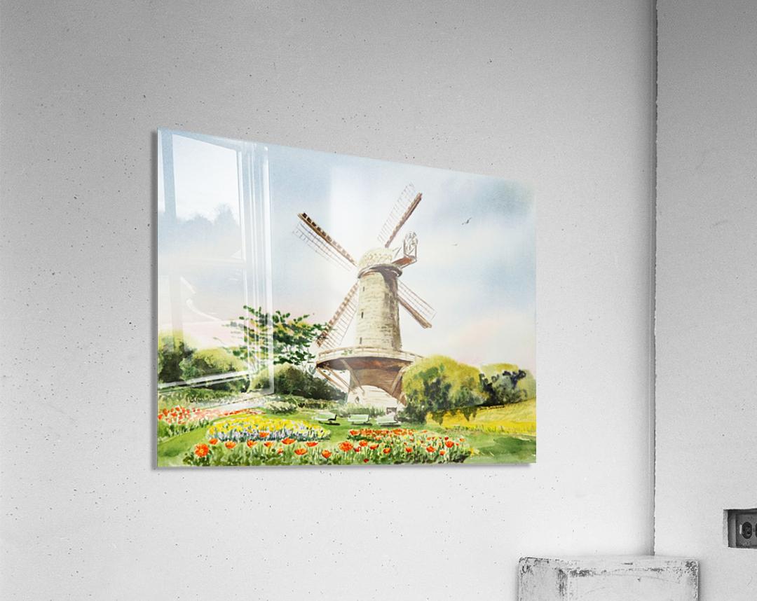 Dutch Windmill in San Francisco   Acrylic Print