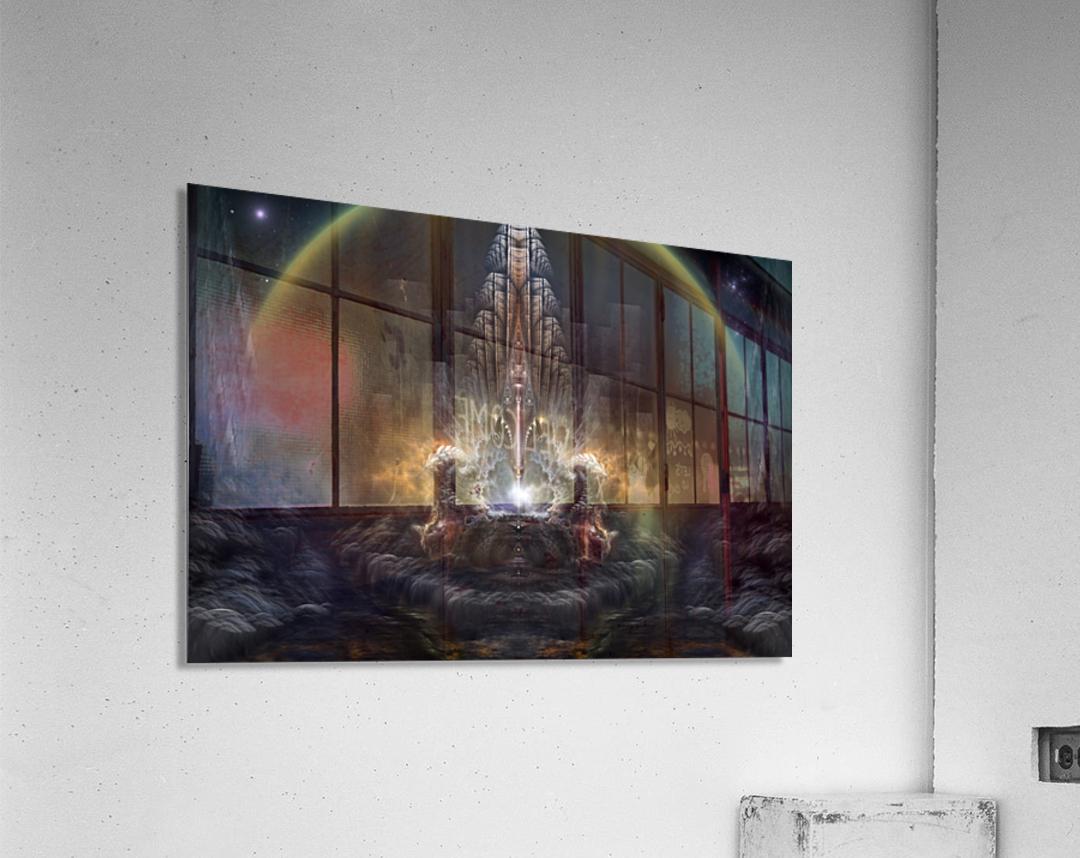 Path Of Shadows Fractal Fantasy Art  Acrylic Print