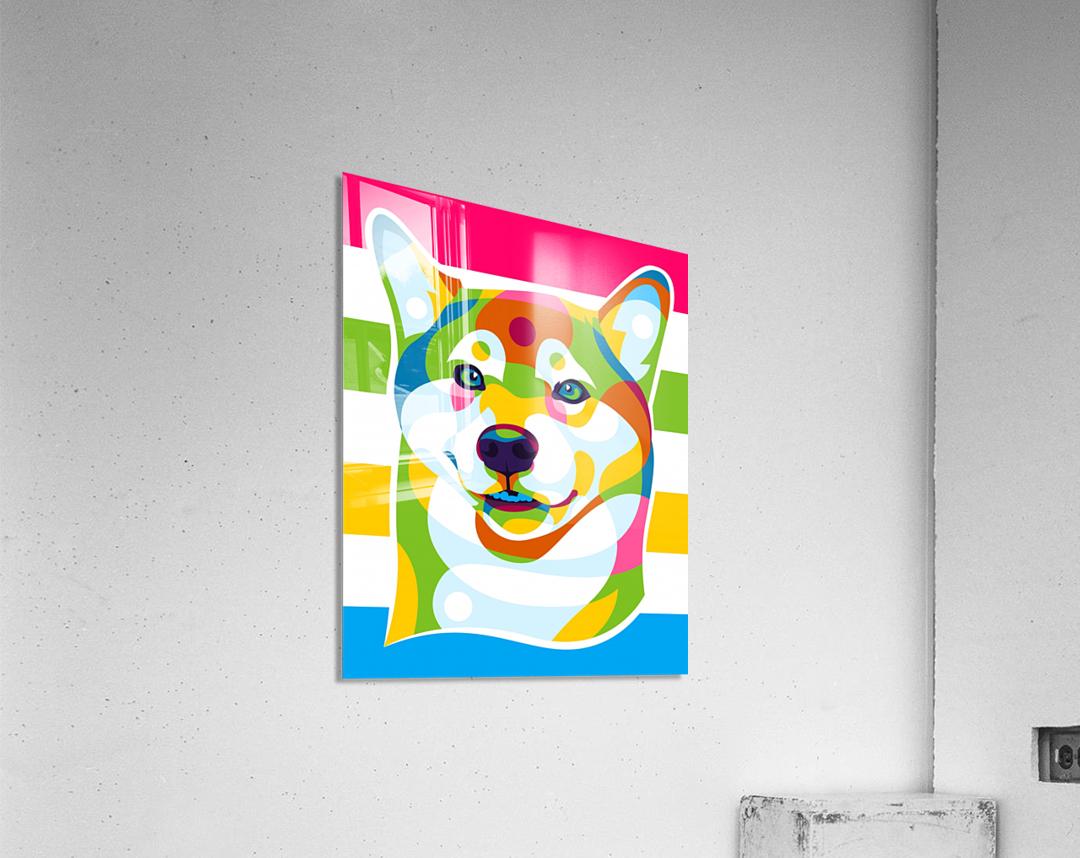 Shiba Inu Colorful Dog  Acrylic Print