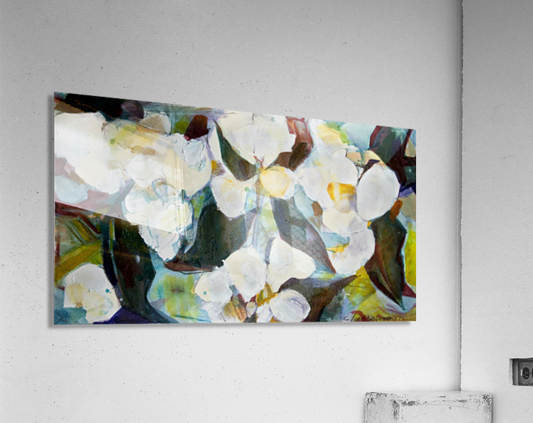 Louisiana Cubist Magnolia  Acrylic Print
