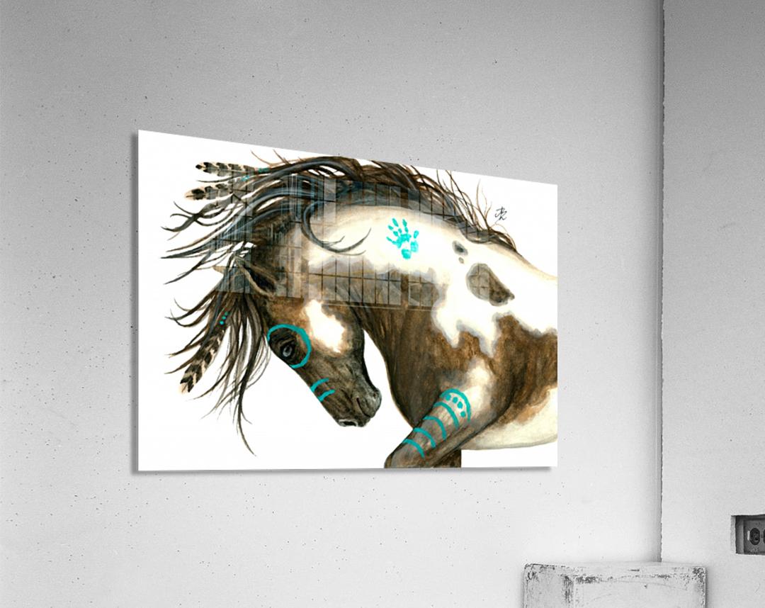 Pinto Horse Turquoise   Acrylic Print
