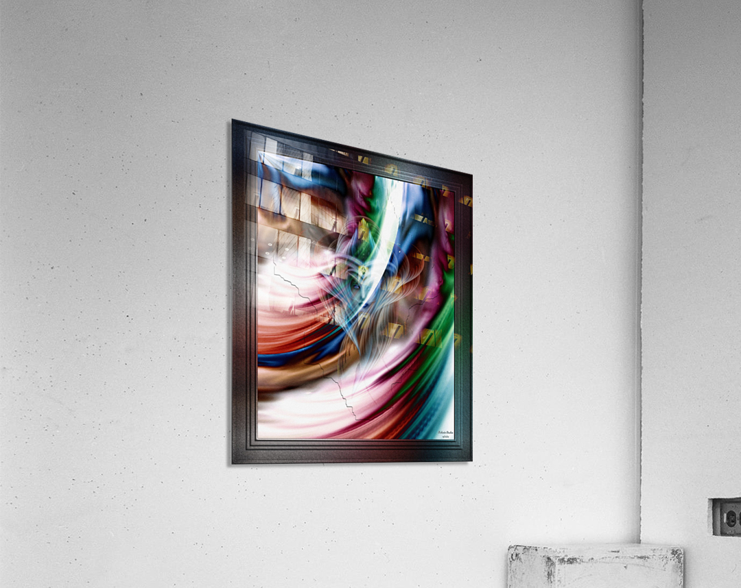 Whispers In A Dreams Of Beauty Fractal Abstract Portrait Art  Acrylic Print