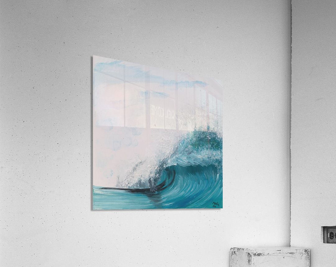 Collection WAVES-Barrel  Impression acrylique