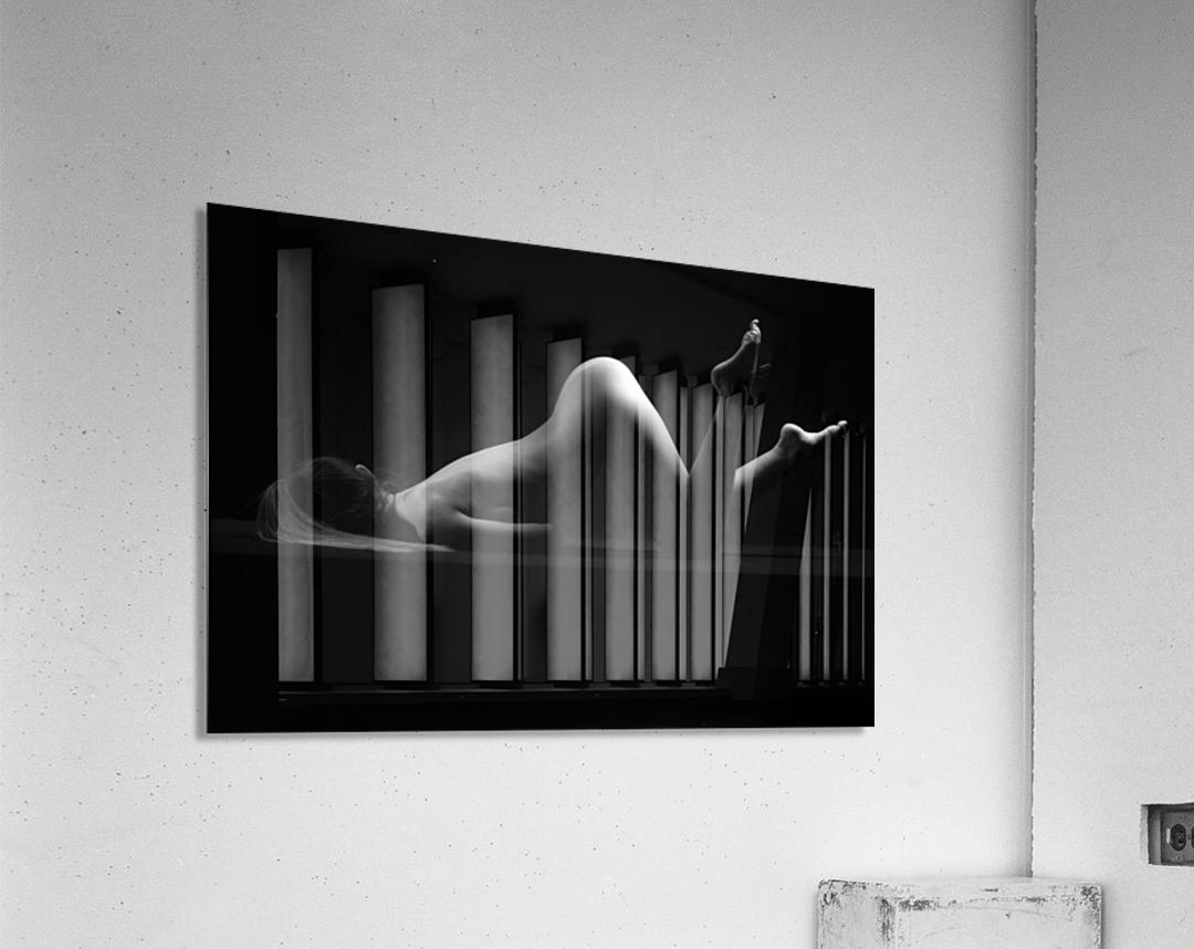 sensual_woman_nude_sexy_girl_laying_down_sleeping  Acrylic Print