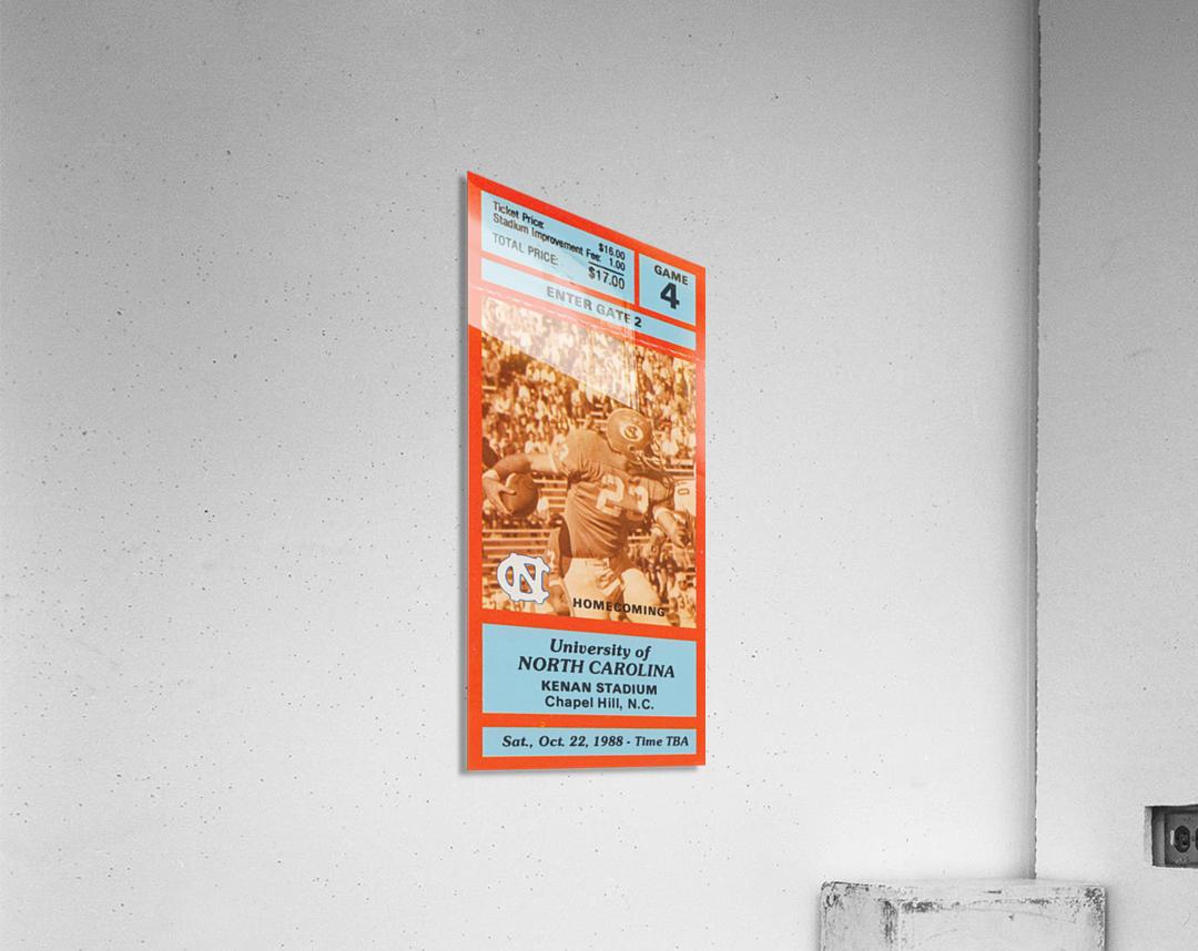 1988NorthCarolinaFootballTicketStubPosterPrint  Acrylic Print