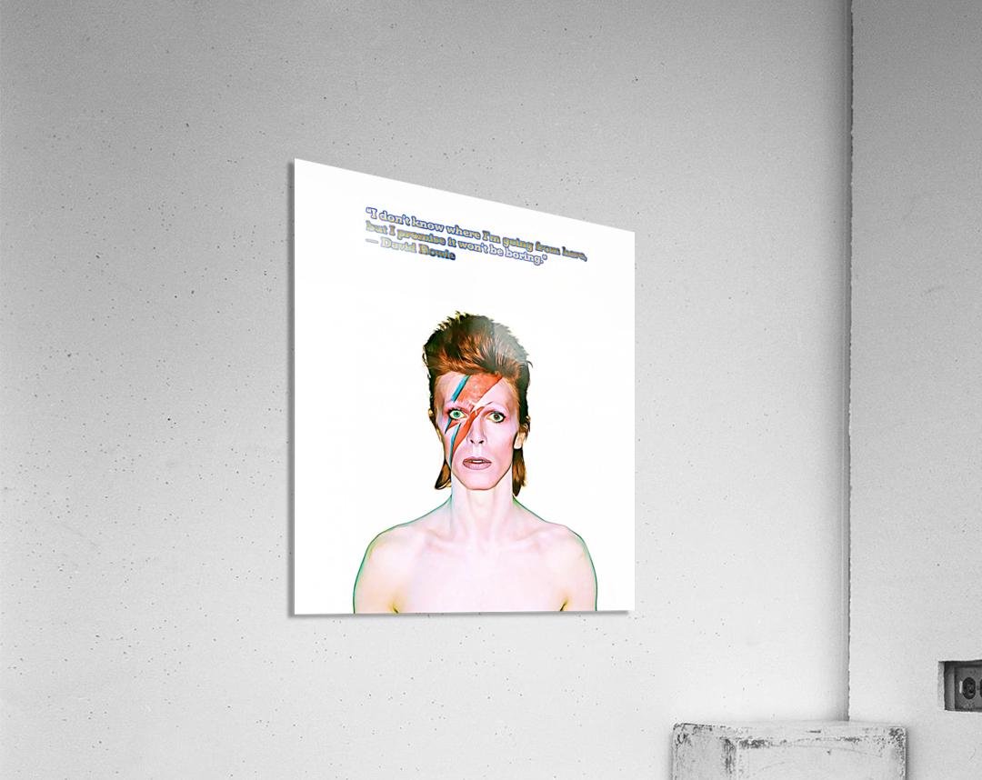David Bowie Ziggy Stardust  Acrylic Print