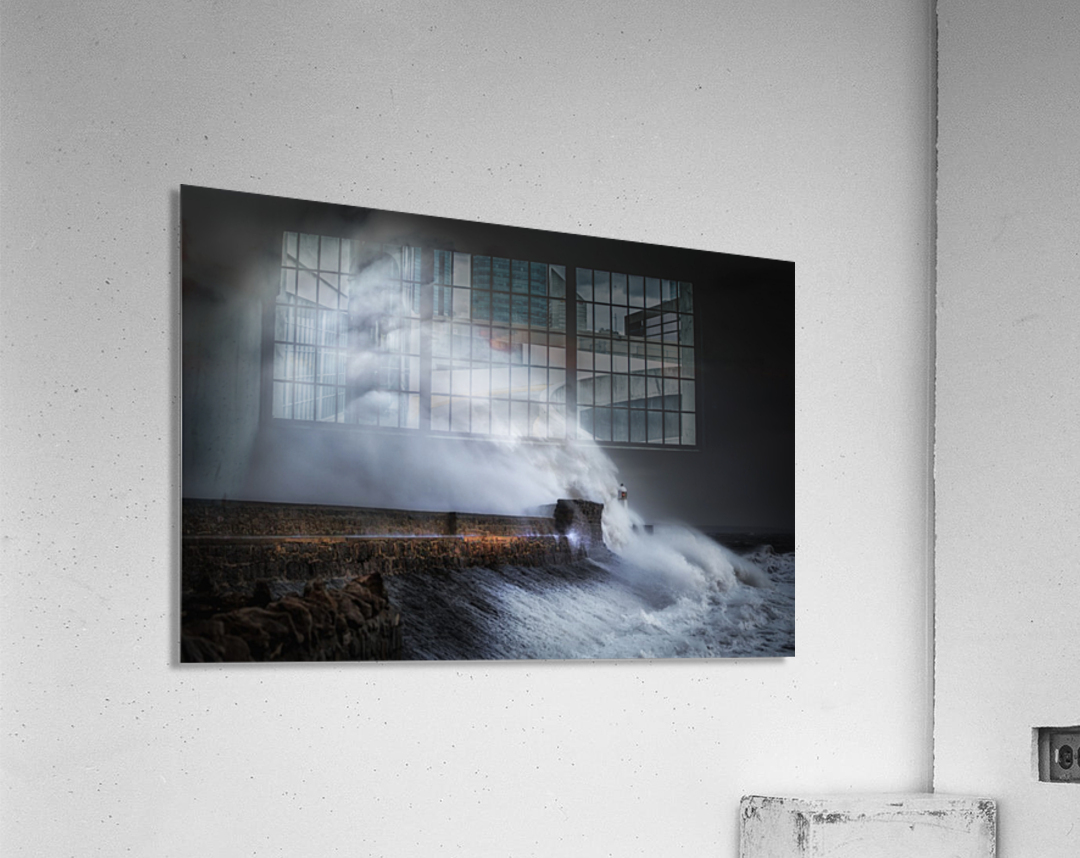 Hurricane Ophelia at Porthcawl  Acrylic Print