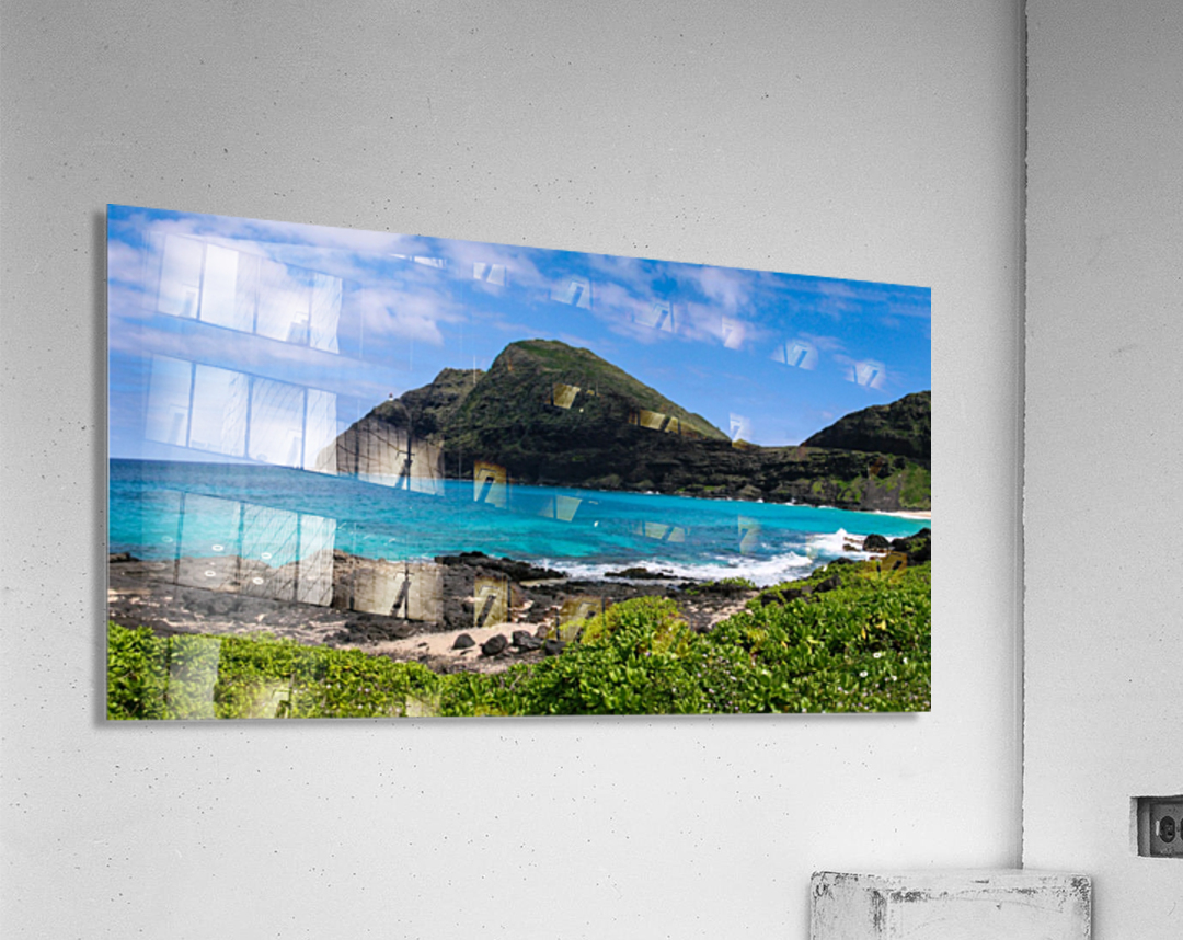 Hawaii Mountain Cliff on Coast  Acrylic Print