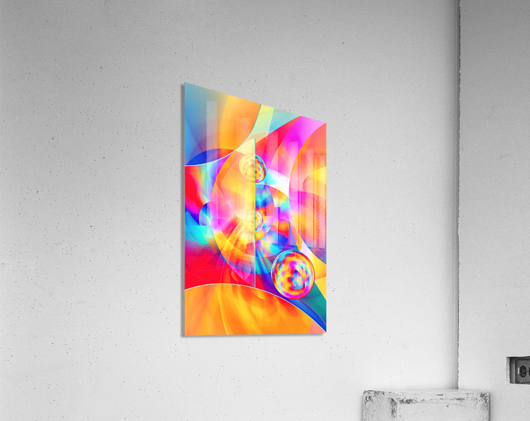 4th Dimension -Abstract Art XVII  Acrylic Print