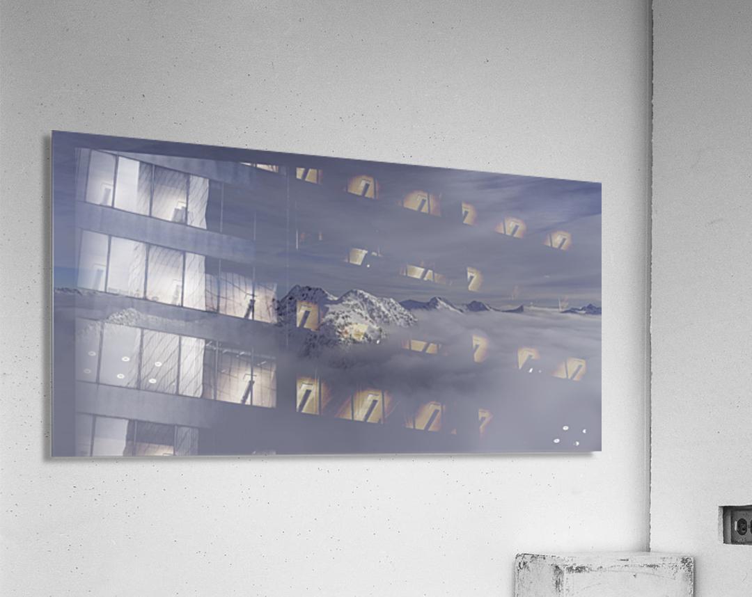 heli ski in the kootenays  Acrylic Print
