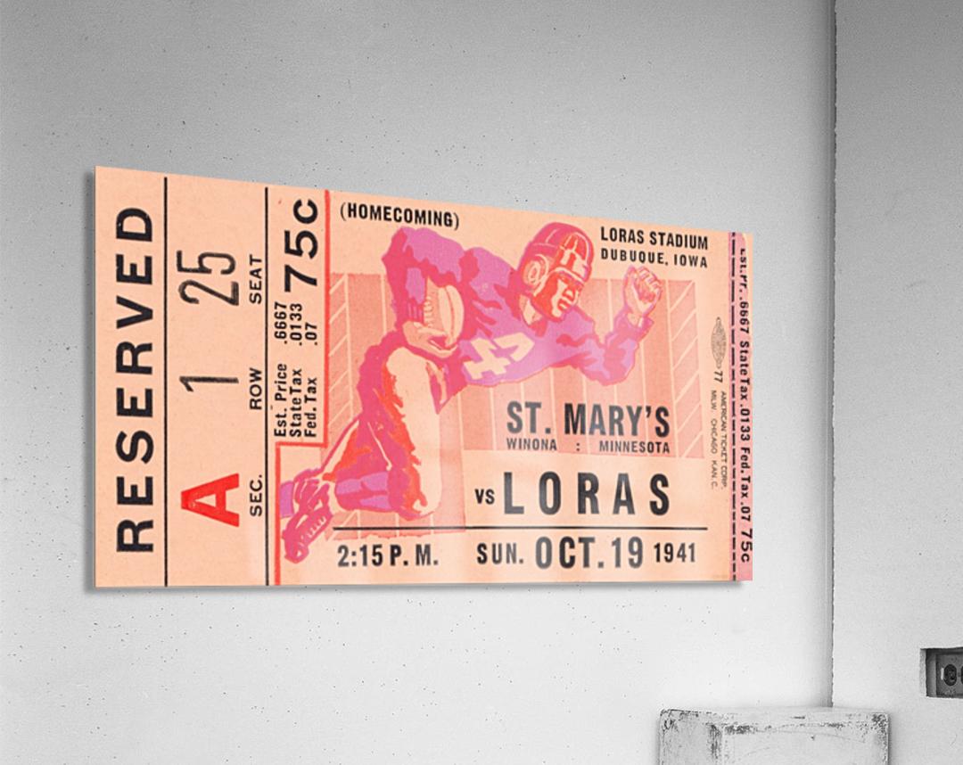 1941 St. Marys vs. Loras  Acrylic Print