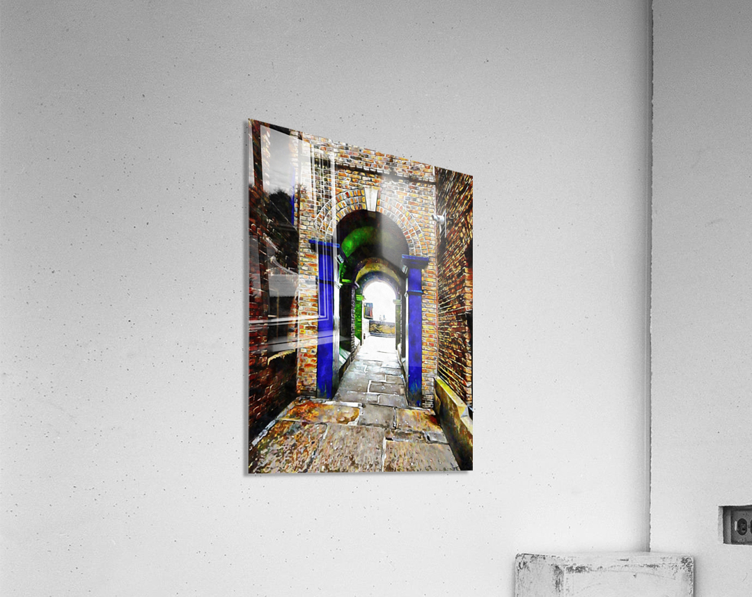 Linking Shad Thames with the River Thames  Acrylic Print