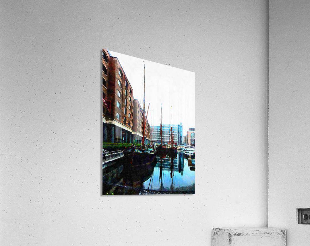 St Katharine Docks Boats 10  Acrylic Print