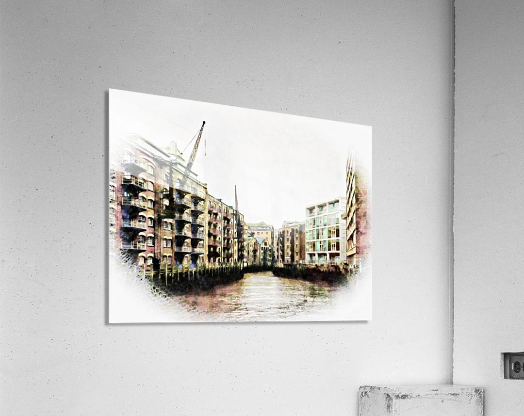 St Saviours Dock Bermondsey  Acrylic Print