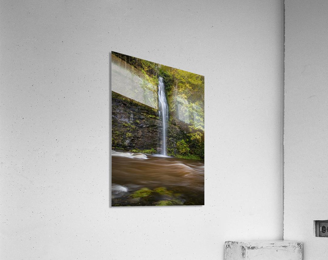 A waterfall on the river Tawe  Acrylic Print