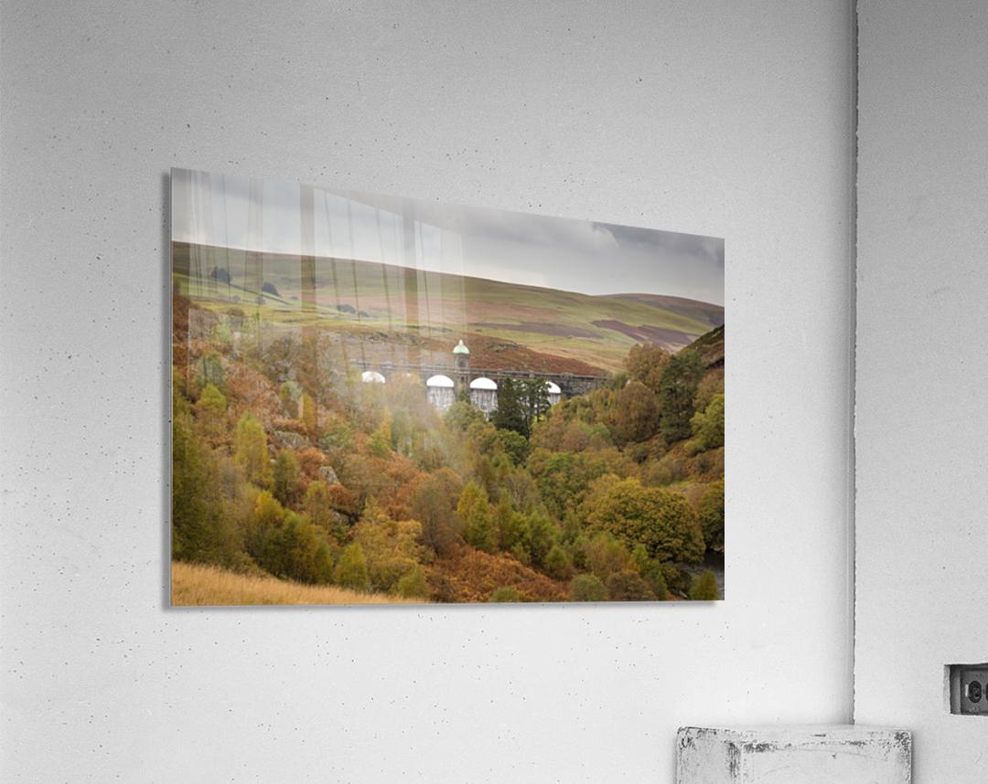 Elan Valley top dam  Acrylic Print
