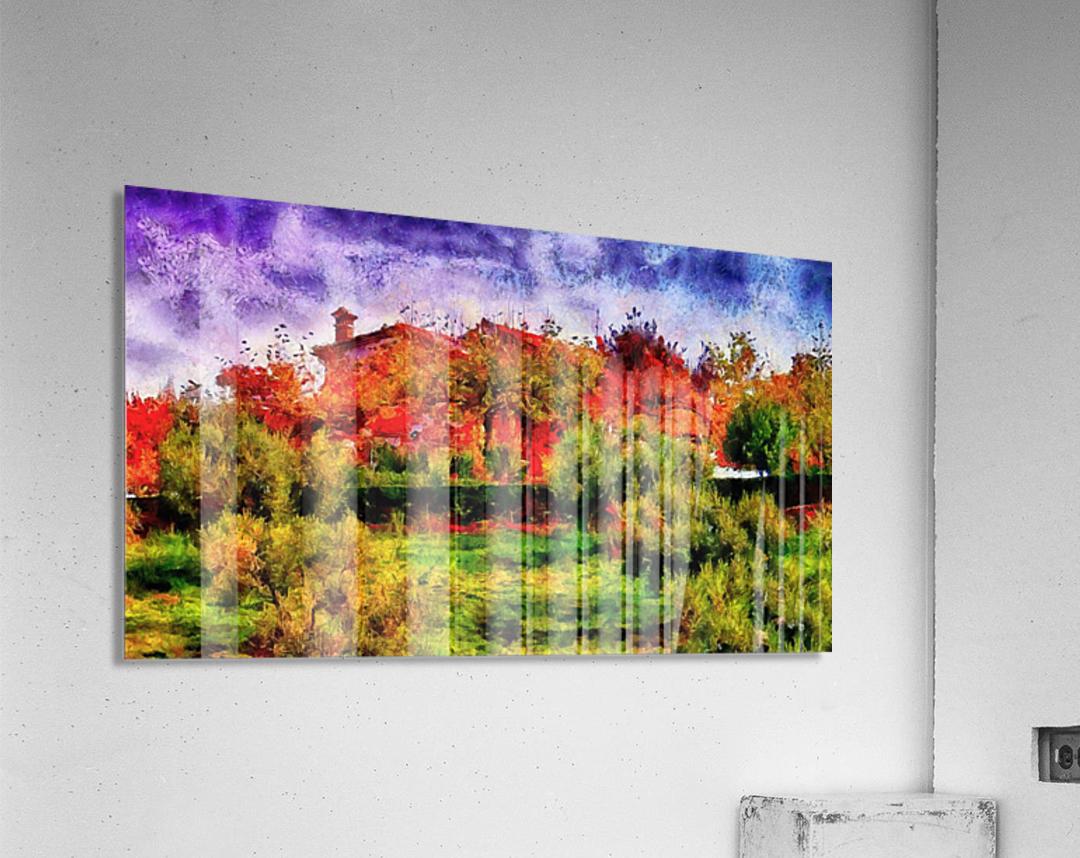 Sunset Autumn Color In Umbria  Acrylic Print