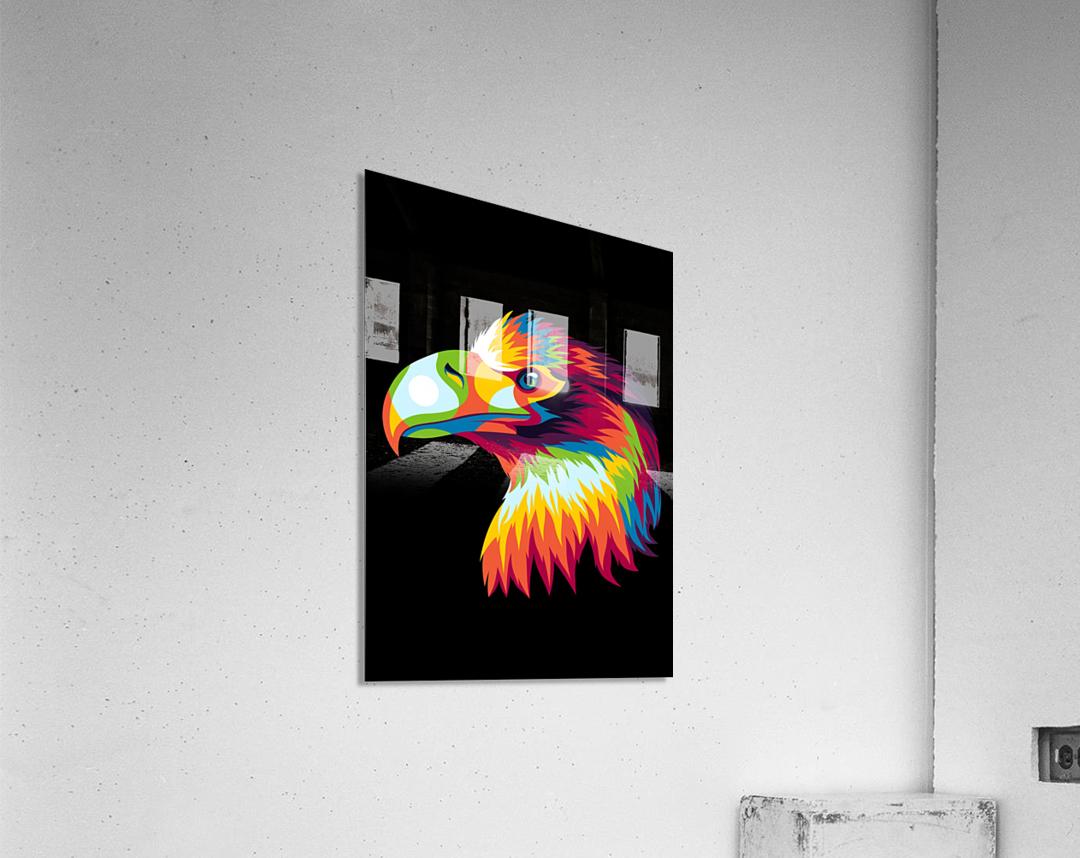 Bird of Prey in Colorful Pop Art Illustration  Acrylic Print