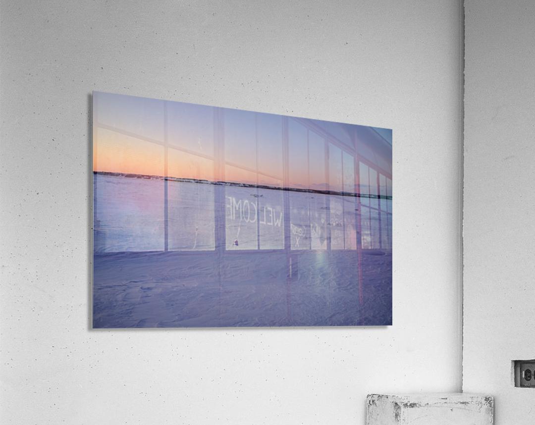 Heure bleue  Impression acrylique