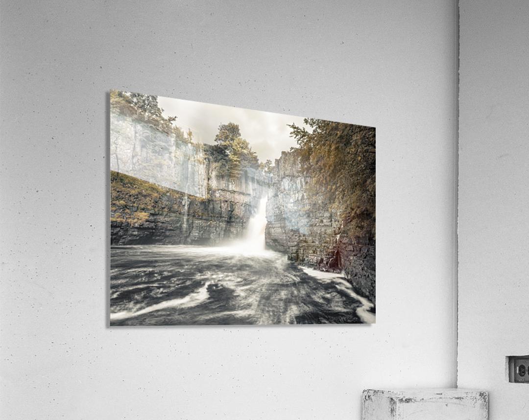 High Force waterfall, North Pennines, Yorkshire, UK  Acrylic Print