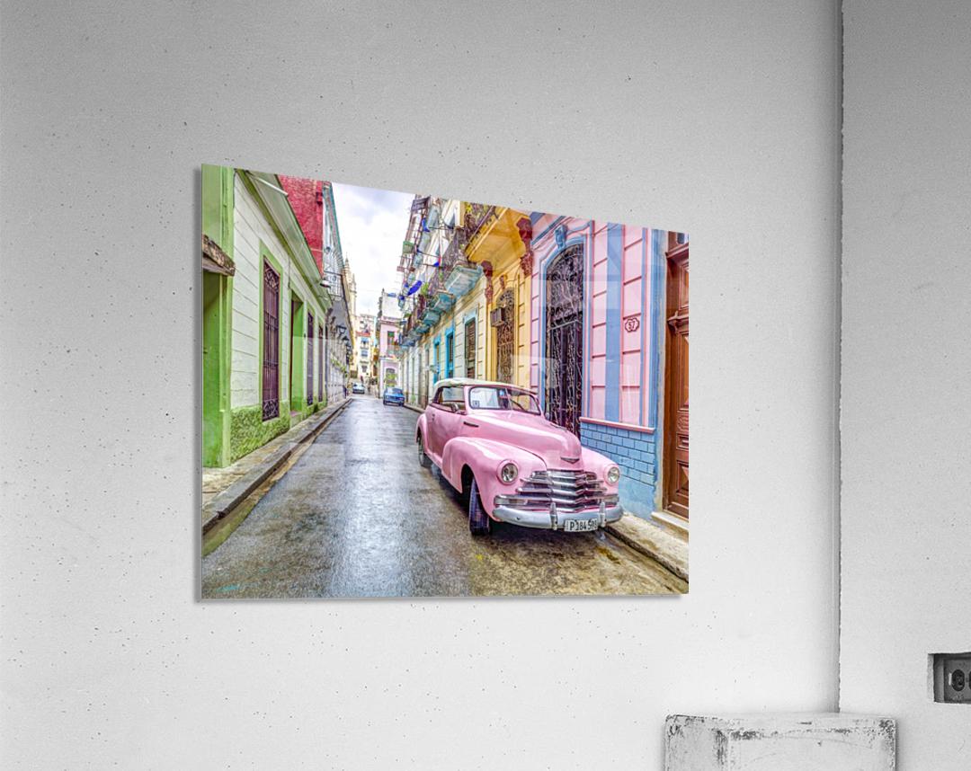 Vintage car on street of Havana, Cuba  Acrylic Print