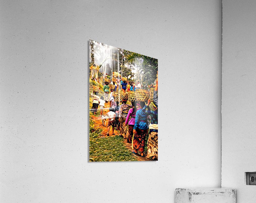 Funeral Feast Procession Bali  Acrylic Print