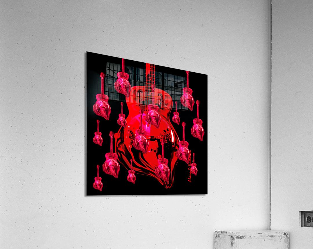 PinkRainBlackVelvet  Acrylic Print