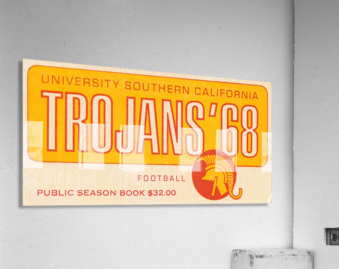 1968 USC Trojans Season Ticket  Acrylic Print