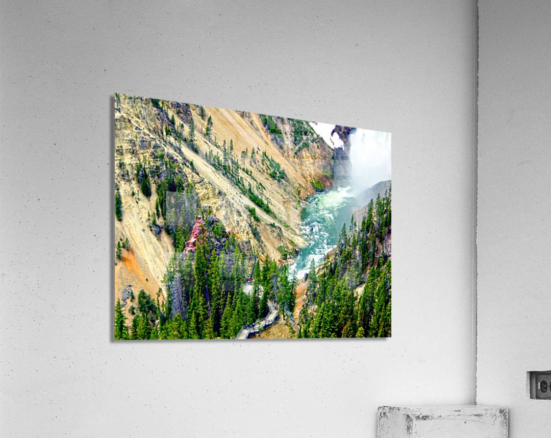 Mighty Yellowstone 3 - Grand Canyon of the Yellowstone River - Yellowstone National Park  Acrylic Print