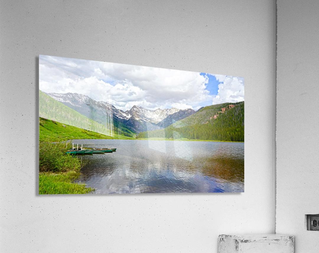Rocky Mountain Reflections  Acrylic Print