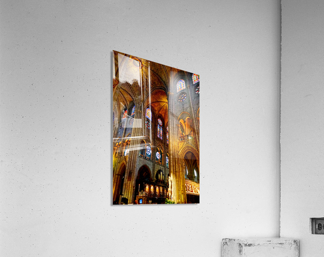 Jeanne d Arc and Saint Croix Cathedral at Orleans   France 3 of 7  Acrylic Print