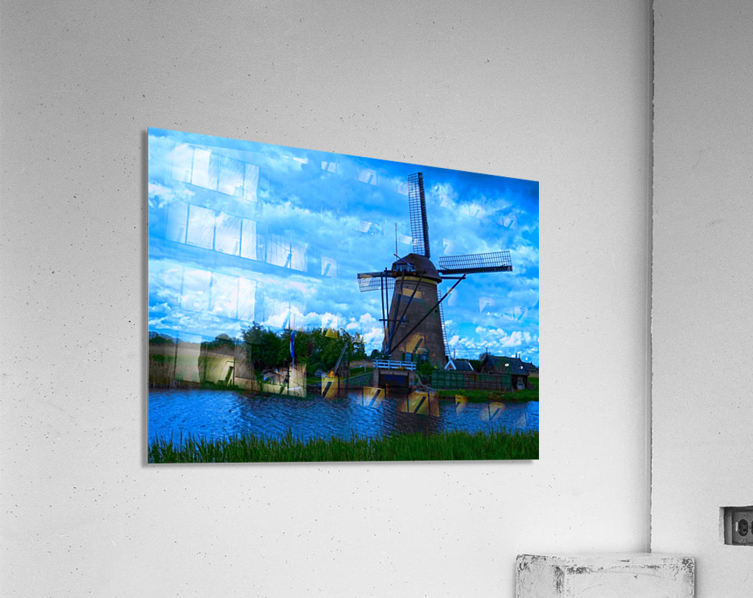 Windmill After the Storm  Acrylic Print