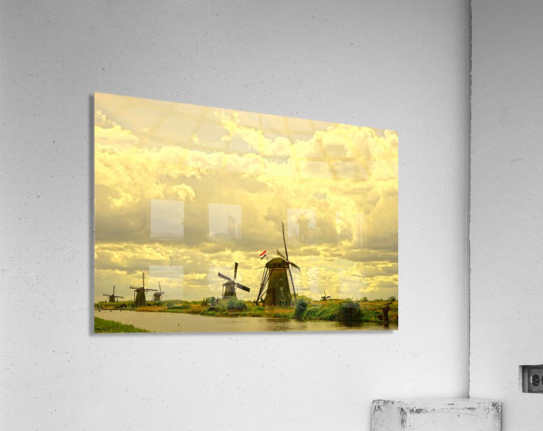 Windmills at Sunset - Netherlands  Acrylic Print