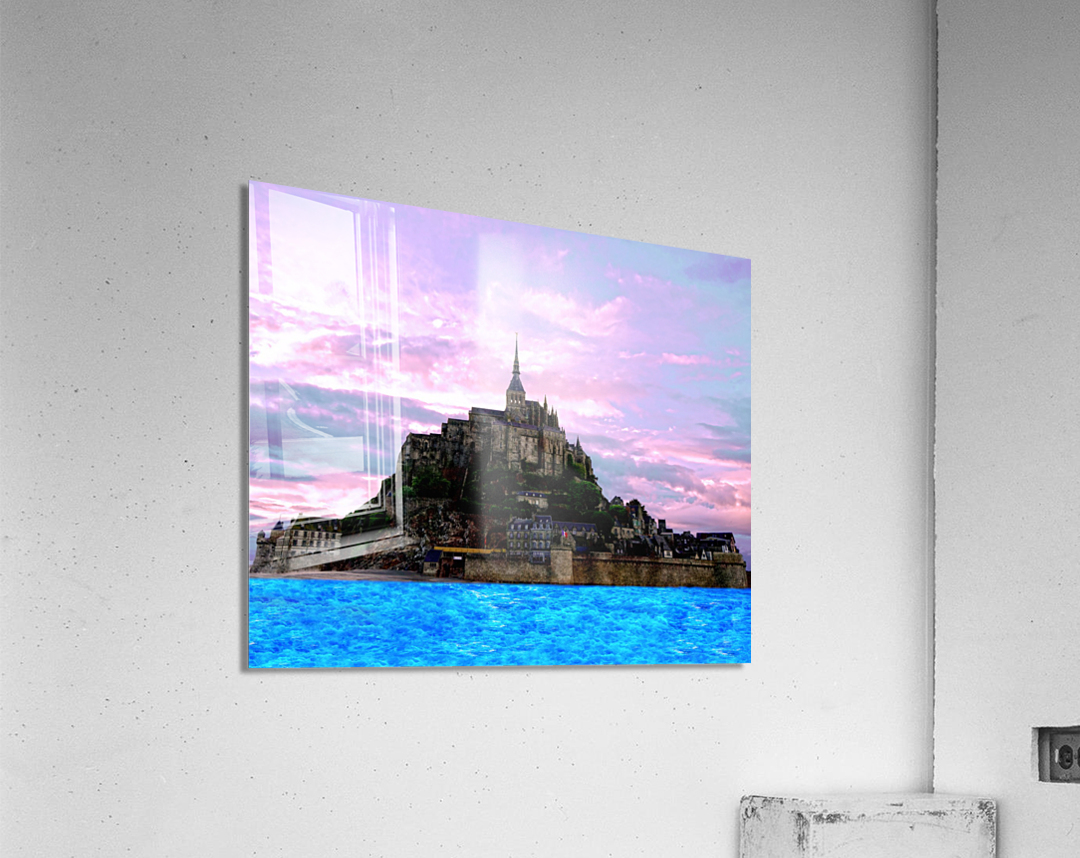 Mont St Michel at Sunset - France  Acrylic Print