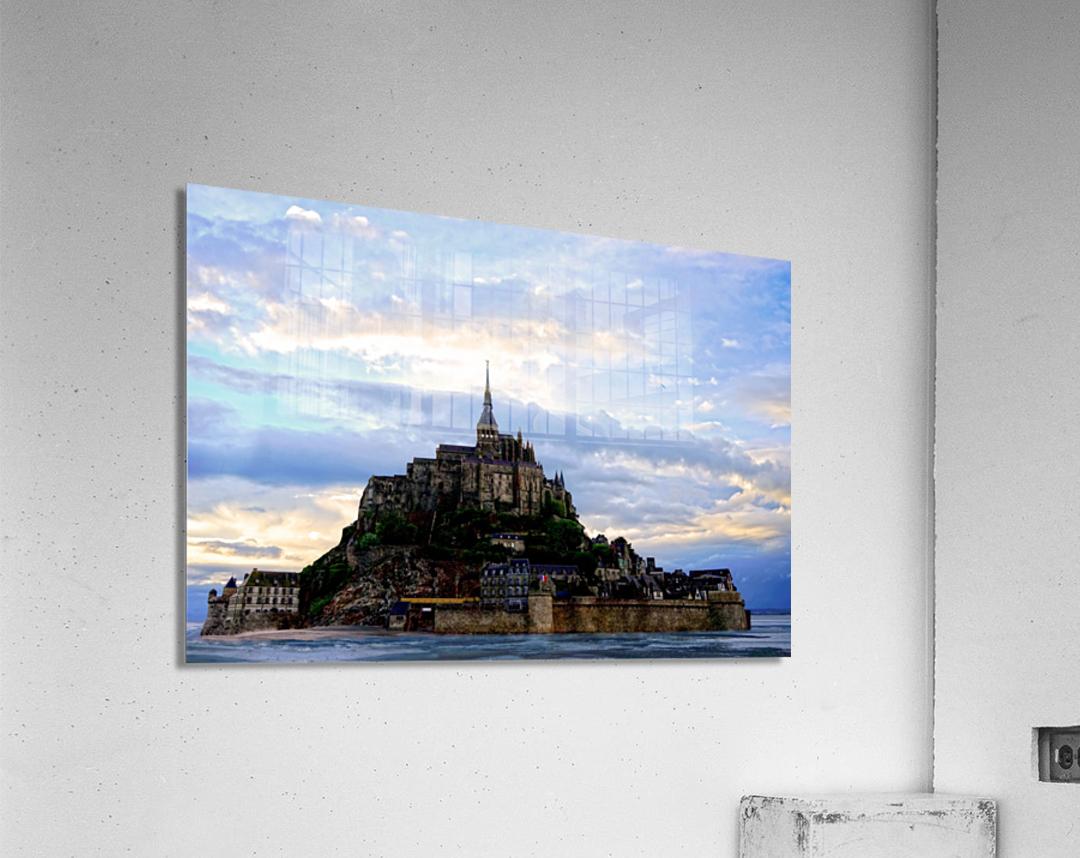 Mont St Michael Rising Tide - France  Acrylic Print