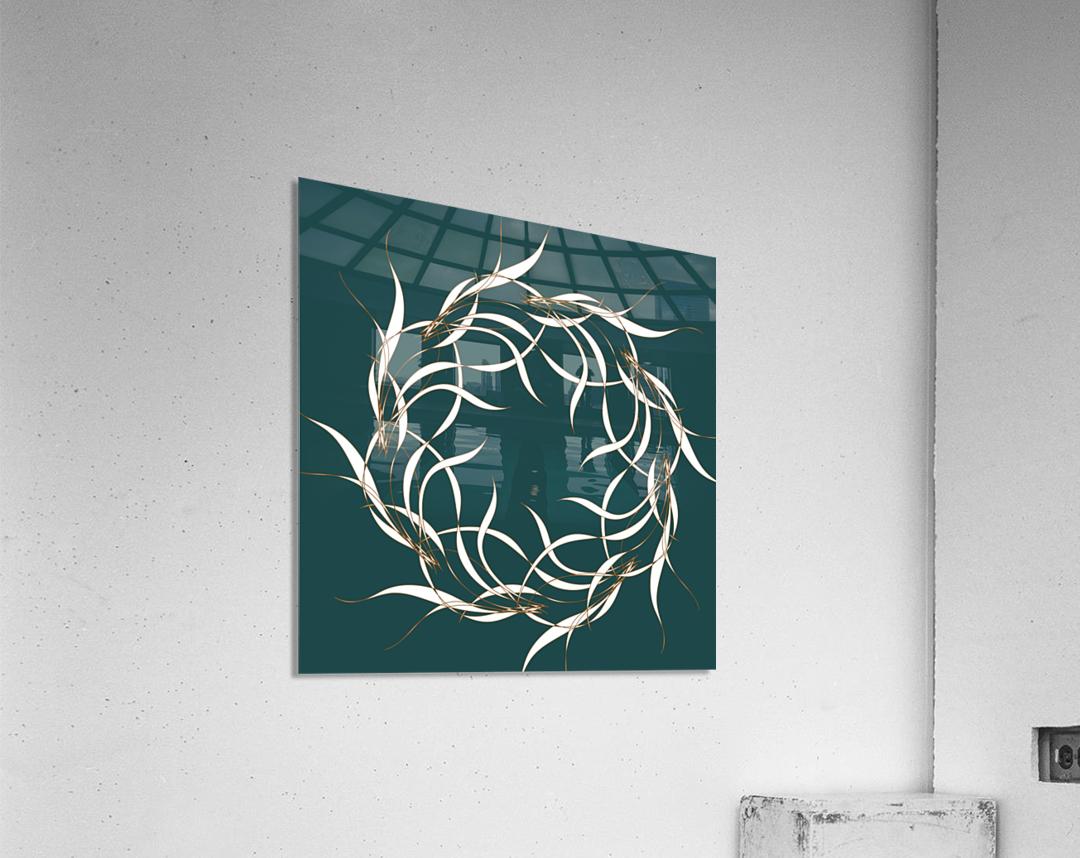wintermandala  Acrylic Print